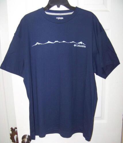Special Run XL Columbia Sportswear TShirt Columbia logo Navy Blue