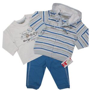Kanz Babyanzug 3-tlg Jogginganzug Jacke Hose Shirt Jungen Gr.56,62 NEU!