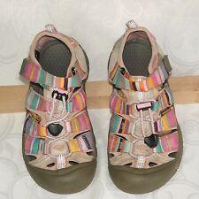 Keen Girls Size 1 Pink Stripe Sandals Newport H2 Waterproof Sport Water Velcro