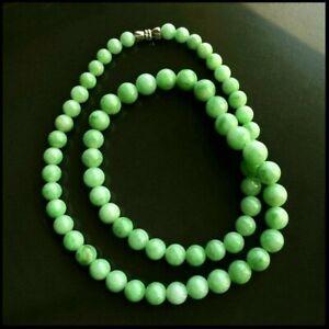 【KOOJADE】Emerald with Green Jadeite Beads Necklace《67》《GradeA》