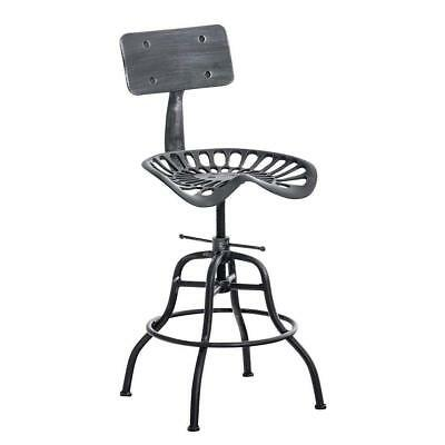Superb Industrial Bar Stool Swivel Tractor Seat Chair Height Adjustable 19 26 Backrest Ebay Squirreltailoven Fun Painted Chair Ideas Images Squirreltailovenorg