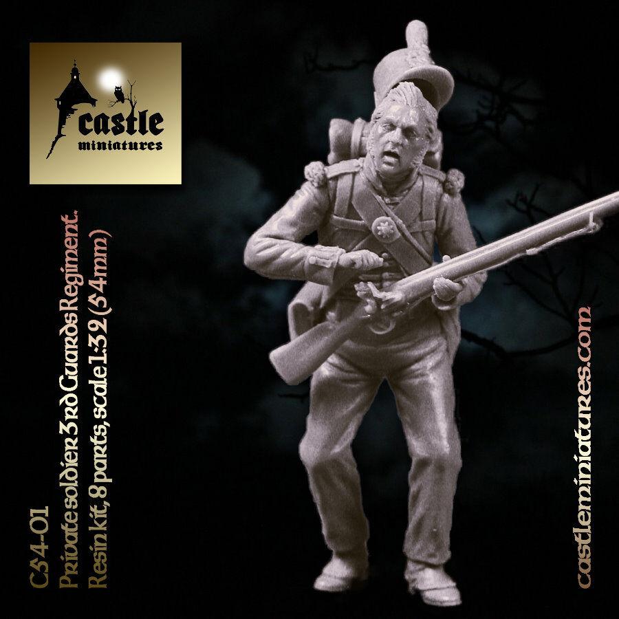 Castle Miniatures 54mm Private soldier 3rd guard CS54-01 Unpainted resin kit