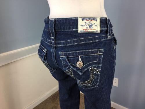 True Stretch Religion con dritta scuro abbellito 26 Jeans tasche Becky patta Euc rr71OZ