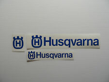 Set of Three Husqvarna logo Sticker/Decal Large Chainsaw/Forestry use