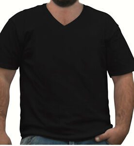 Plain-Blank-Premium-Tshirt-Tee-Big-and-Tall-Plus-Size-Black-3XL-4XL-5XL-6XL