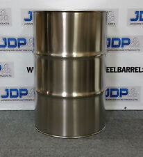 55 Gallon Stainless Steel Barrel Drum Closed Top 12mm Thick New 8 Pack