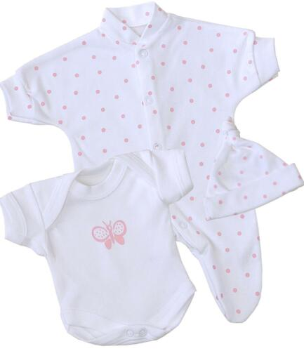 BabyPrem Premature Baby Girls Clothes Prem Preemie Sleepsuit Vest Hat Set