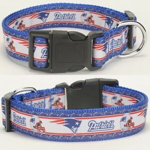 "NEW ENGLAND PATRIOTS Pet Adjustable Collar Dog Nylon 10-14/"" 14-21.5inch"
