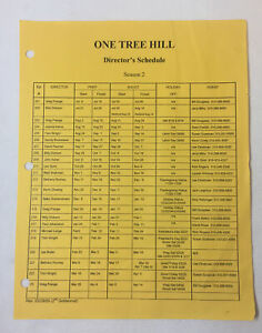 ONE-TREE-HILL-set-used-DIRECTOR-039-S-SCHEDULE-Season-2