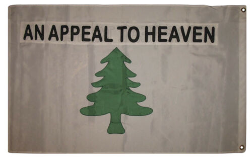 3x5 Embroidered An Appeal to Heaven Washington Synthetic Cotton Flag 2 Clips