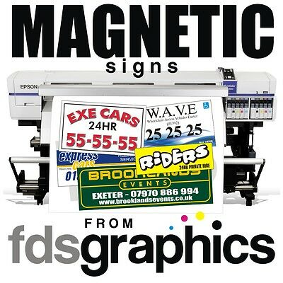 Pair Of High Quality Vehicle Magnetic Signs Furniture, Signs & Décor Sizes From 500mm X 250mm