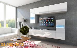 Das Bild Wird Geladen Moderne Wohnwand FUTURE 31 Hochglanz TV Schrank LED