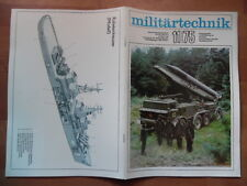 MILITÄRTECHNIK 11/1975 Fla-SFL ZSU-23-4 LKW Kraka Panzer T-34 Raketenkreuzer NVA
