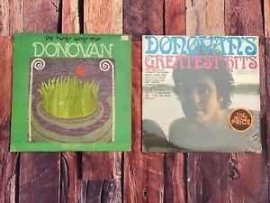 Donovan-HURDY-GURDY-MAN-amp-GREATEST-HITS-LP-Vinyl-Record-Album-LOT-1968-Records