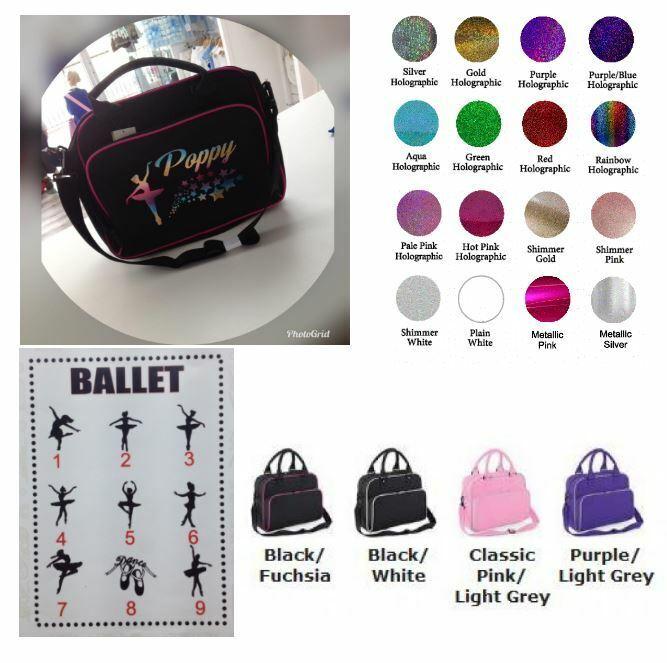❤️ Personalised dance bag BALLET PRETTY GIRLS glitter school bag stars Gift FAB