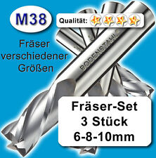 Fräsersatz, 6+8+10mm, Schaftfräser für Metall Kunststoff, hochlegierte Qualität