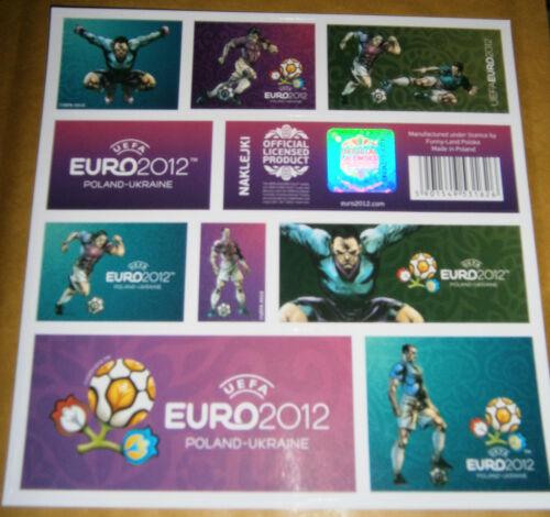 2 PLAYERS POLISH STICKER SHEET EURO 2012 FOOTBALL CHAMPIONSHIPS 16 X 16 cm