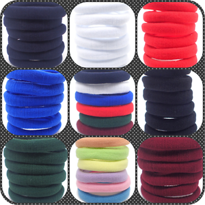 12x-HAIR-ELASTICS-BOBBLES-PONIOS-BAND-ENDLESS-WOMEN-GIRL-SCHOOL-ELASTIC-HAIRBAND