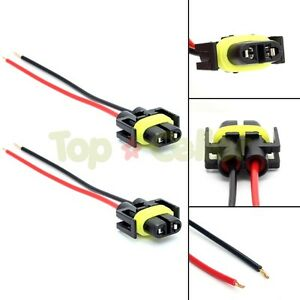 s l300 880 881 h11 female plug wiring harness sockets wire for headlights GM Headlight Wiring Harness at eliteediting.co