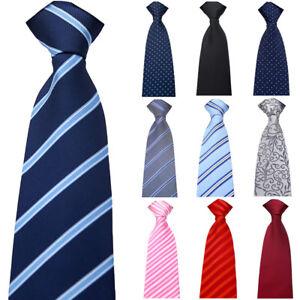 Men-Formal-8cm-Wide-Zipper-Necktie-Wedding-Party-Striped-Floral-Pre-tied-Tie