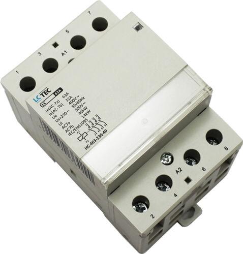 Installationsschütz 20,25,40,63 A 230//400V AC 1-3 Module