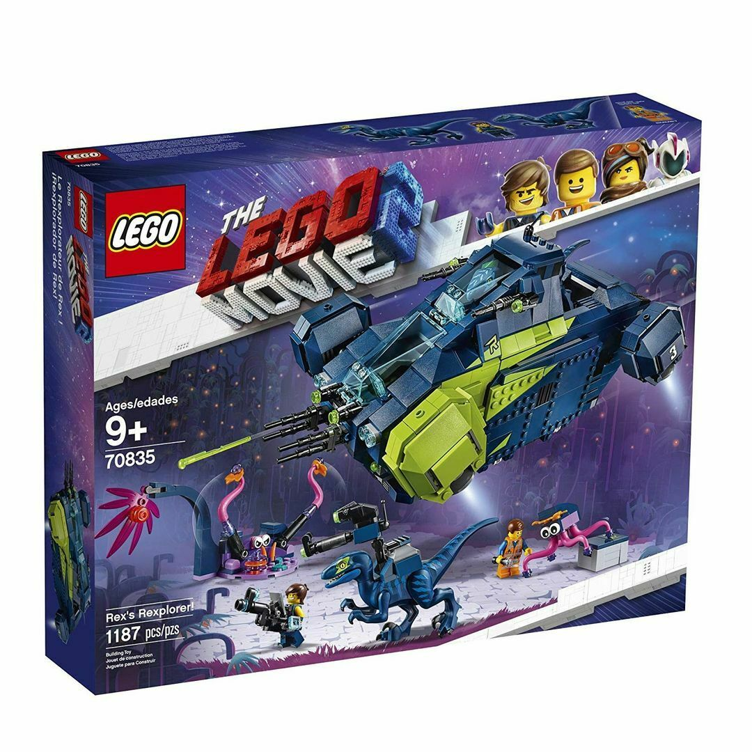 nuovo LEGO THE LEGO MOVIE 2 70835 REX'S REXPLORER   TRUSTED U.S. SELLER gratuito S&H  offrendo il 100%