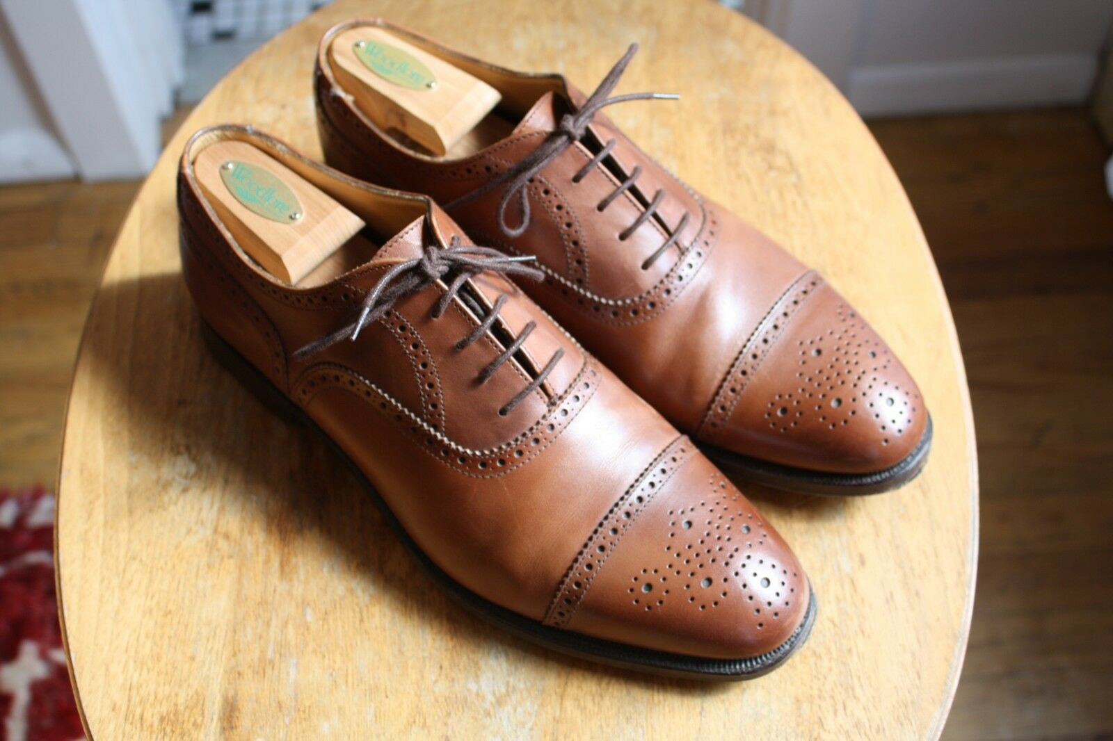 Brooks Bredhers x Alfred Ssilver Brown Captoe Brogues 10D
