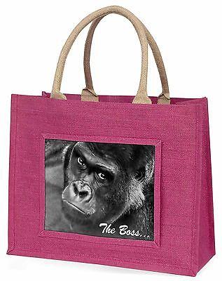 Gorilla 'The Boss' Vatertag Große Rosa Einkaufstasche Weihnachten , AM-14BLP