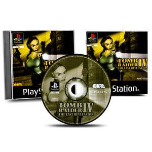PS1-Jeu-Tomb-Raider-IV-4-The-Last-Revelation-Emballage-D-039-Origine-avec-Manuel