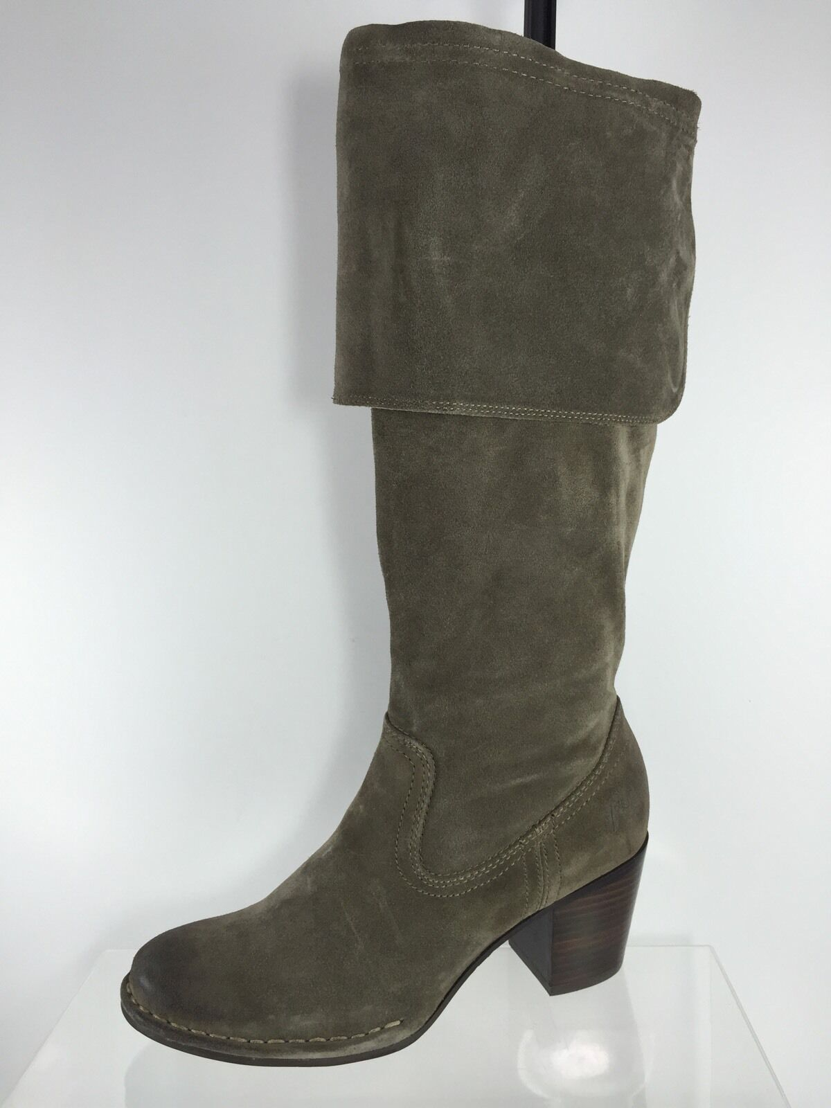Frye Womens Stone Brown Leather Knee Boots 8 M