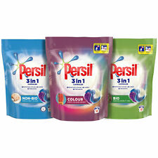 Persil 3in1 Capsules Bio/NonBio/Colour, 3 Pack of 50 Washes - Total 150 Washes