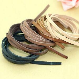 1m Cowhide Leather Cord Thread Bracelet Necklace DIY String More Colors