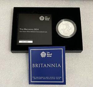 2014 Royal Mint - 1oz Silver Britannia £2 Coin - Brilliant Uncirculated Pack