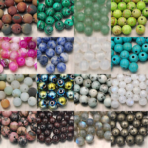 Wholesale-Natural-Gemstone-Round-Spacer-Loose-Beads-4mm-6mm-8mm-10mm-Pick