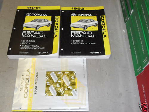 1993 Toyota Corolla Service Repair Shop Workshop Manual Set Oem W Wiring Diagram