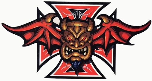 RARE TIKI Demonic AWESOME STICKER/VINYL DECAL! Art by Mr G