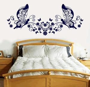 Image Is Loading Butterfly Love Heart Vinyl Sticker Wall Art Bedroom