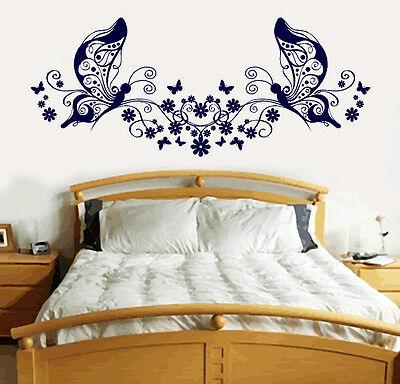 Butterfly Love Heart Vinyl Sticker Wall Art Bedroom Decal 4