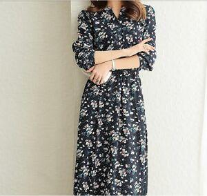 Casual 2018 Korean Fashion Long Sleeve V Neck Slim Floral Spring