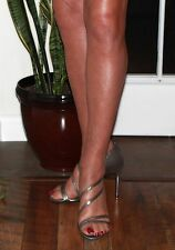 "FIONI 4.5"" Silver Strappy Sandal SZ 13 - Drag Crossdresser Transgender CD TV TS"