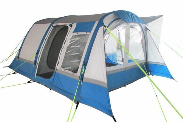 INFLATABLE DRIVE AWAY CAMPER VAN AWNING - OLPRO COCOON BREEZE (blueE & GREY)