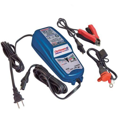 Charger Optimate 5 Voltmatic 6v et 12v 4/2.8a Pour Batterie de 8 À 120ah