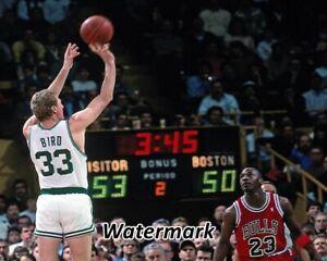 varonil Aceptado emitir  NBA 1990 Larry Bird Boston Celtics vs Michael Jordan Bulls Color 8 ...