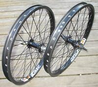 Wheel Set 20 Bmx Park Front 3/8 And 9t 3/8 Rear Axle Double Walled Rims