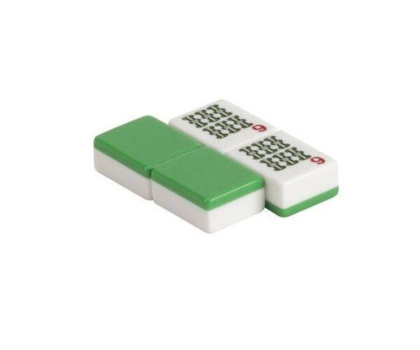 166 un. Western Mah Jong blancoo Y verde azulejo conjunto Nuevo