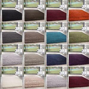Shaggy Hochflor Teppich Wohnzimmer Carpet UNI Farben, Rechteck, Rund ...
