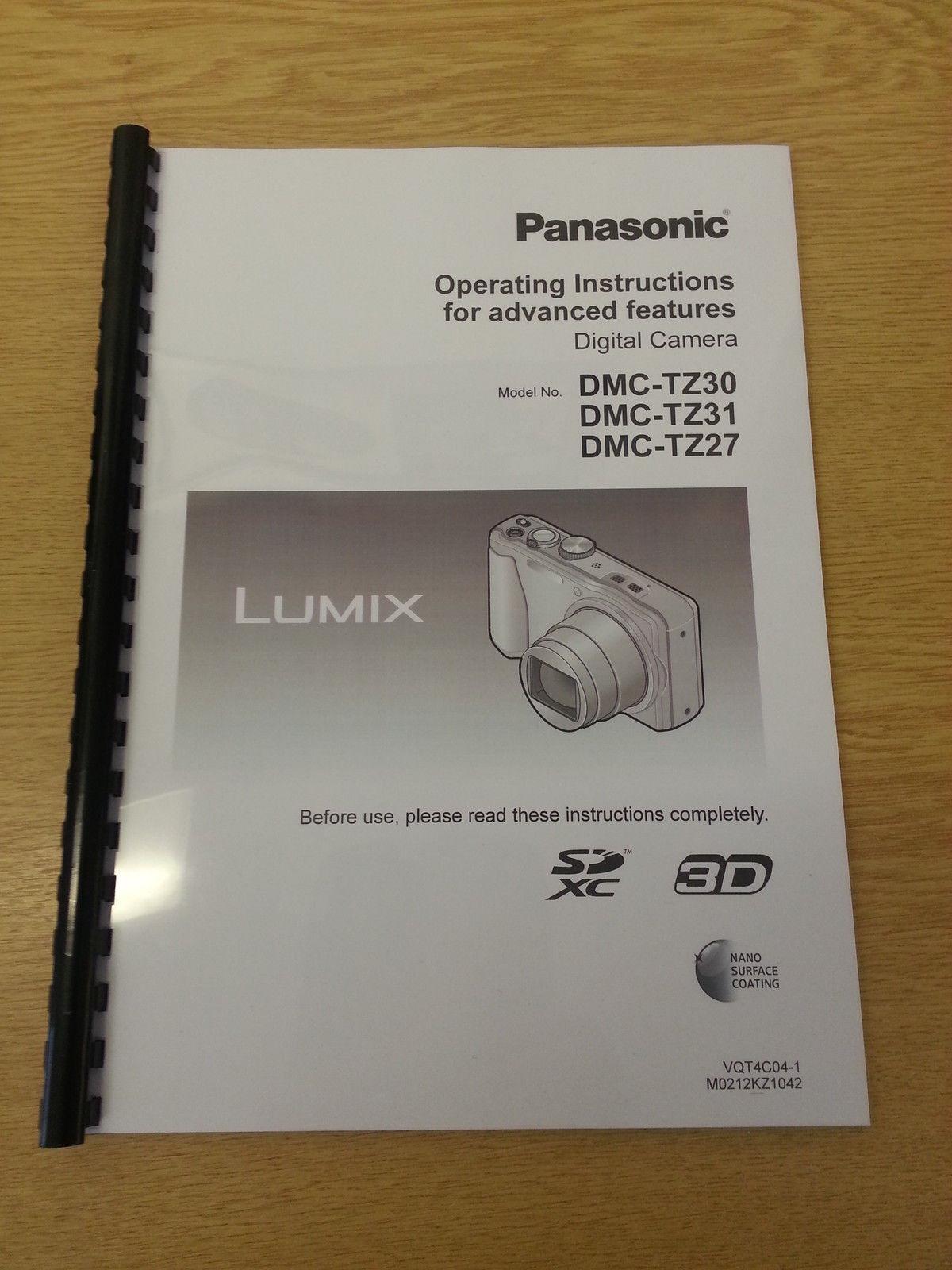 Panasonic lumix dmc-tz27 / tz30 / tz31 / zs19 / zs20 / leica v-lux.