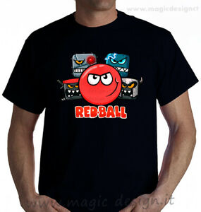 tshirt-RED-BALL-4-VIDEO-GAMES-gioco-pallina-rossa-t-shirt-uomo-bambino-fino-5XL