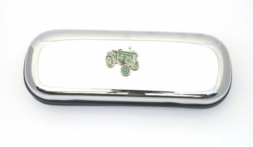 Green Tractor Enamel Style Glasses Spectacle Case Farming Present FREE ENGRAVING