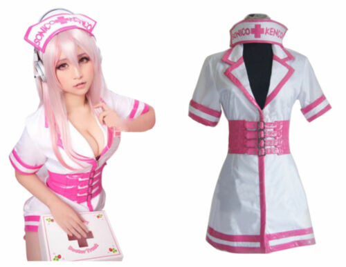 """Super Sonico""""Nurse Version""""Unifor<Wbr>M Cosplay Custom Dress Outfit  @@@66 by Unbranded"""
